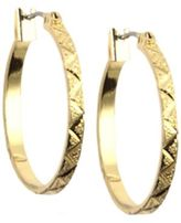 Anne Klein 12 Kt Gold Plated Hoop Earrings