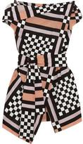Vivienne Westwood Nomad Draped Printed Cotton-voile Blouse - IT40