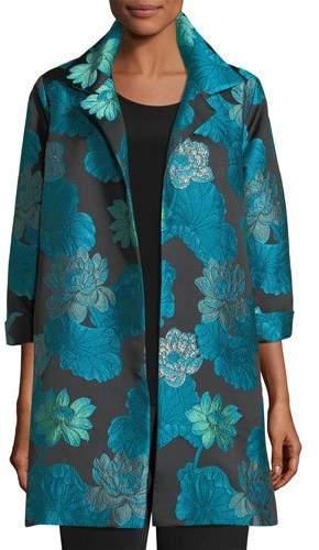 Caroline Rose Gilded Lilly Jacquard Party Jacket, Petite