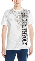 Southpole Men's Flock and Screen Print Graphic T-Shirt with Logo and Prints