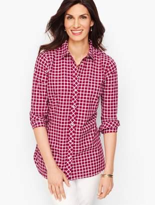 Talbots Classic Cotton Shirt - Woodland Berry Gingham