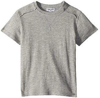 Splendid Littles Basic Short Sleeve Tee (Toddler/Little Kids/Big Kids) (Heather Grey) Boy's T Shirt