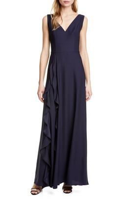 Ted Baker Azaelea V-Neck Ruffle Maxi Dress
