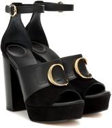Chloé C platform leather sandals