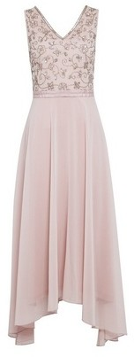Dorothy Perkins Womens Showcase Bridesmaid Blush Valarie Midi Dress
