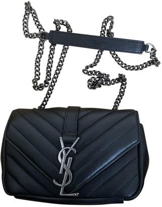 Saint Laurent Baby monogramme Black Leather Handbags