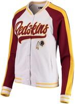 New Era Women's White/Burgundy Washington Redskins Varsity Full Snap Jacket
