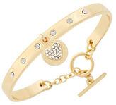 BCBGeneration Say My Name Glass Stone Heart Toggle Bracelet