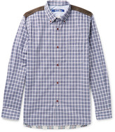 Junya Watanabe - Patchwork Checked Cotton-poplin And Flannel Shirt