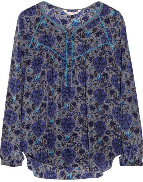 Rebecca Taylor Printed silk crepe de chine blouse