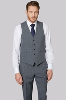 Moss Esq. Regular Fit Grey Check Waistcoat