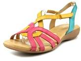 Naturalizer Catrina Women Open-toe Leather Multi Color Slingback Sandal.