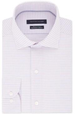 Tommy Hilfiger Men's Classic/Regular Fit Non-Iron THFlex Supima Stretch Check Dress Shirt