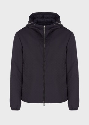 Emporio Armani Nylon Jacket With All-Over Monogram