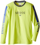 Armani Junior Long Sleeve Logo Tee Boy's T Shirt