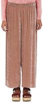 Masscob Women's Velvet Crop Pants-PINK