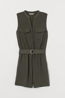 H&M V-neck playsuit