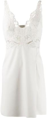 Ermanno Scervino Lace-Insert Mini Dress