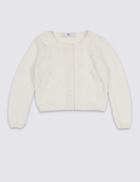Marks and Spencer Cotton Rich Chunky Knit Cardigan (3 Months - 5 Years)