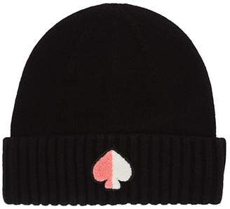 Kate Spade Spade Patch Beanie (Black) Beanies
