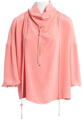 Tibi Pink Silk Tops