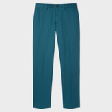 Paul Smith Men's Slim-Fit Dark Teal Stretch-Cotton Trousers
