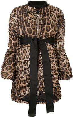 Giambattista Valli leopard draped bomber jacket