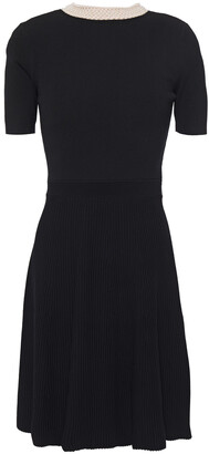 Sandro Uigi Faux Pearl-embellished Stretch-knit Dress