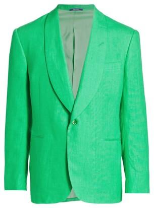 Ralph Lauren Purple Label Shawl Collar Linen Sportcoat