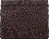 Barneys New York Men's Alligator Flat Card Case