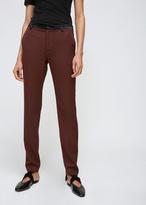 Lanvin Chocolate Contrast Waistband Trouser