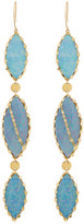 Lana 14k Frosted Triple Marquis Opal Dangle Earrings
