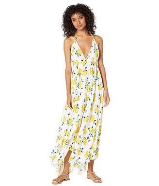 Kate Spade Lemon Beach Halter Maxi Dress Cover-Up