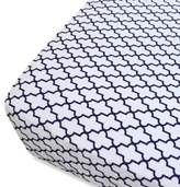 Oliver B Mix & Match Fitted Crib Sheet in Navy Trellis