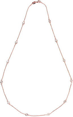 Suzy Levian Diamonds Suzy Levian 14K Rose Gold 1.30 Ct. Tw. Diamond Station Necklace