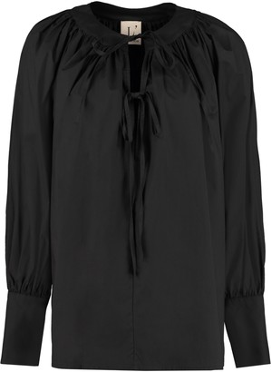 L'Autre Chose Blouse With Neckline Ruffles