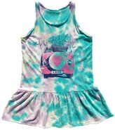Rowdy Sprout Girl's Peace & Love Tie-Dye Tank Dress