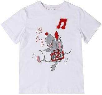 Stella Mccartney Kids Mouse Printed Organic Cotton T-Shirt