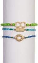 Melrose and Market Charm, Thread, & Bead Bracelet 3-Piece Set