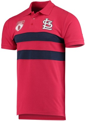 Men's Red St. Louis Cardinals Horizontal 2-Stripe Polo