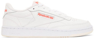 Reebok Classics White and Red Club C 85 Sneakers