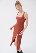 Third Form Escape Satin Split Midi Dress