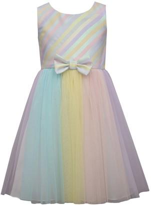 Bonnie Jean Girls 4-6x Jacquard Striped Dress