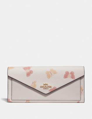 Coach Soft Wallet With Butterfly Print