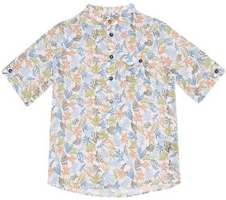 Loro Piana Kids Hector Summer Corals linen shirt