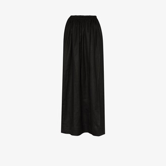 Matteau Elasticated linen maxi skirt