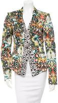 Just Cavalli Floral Print High-Low Hem Blazer w/ Tags