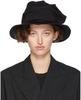 Y's Ys Black Frill Cloche Hat