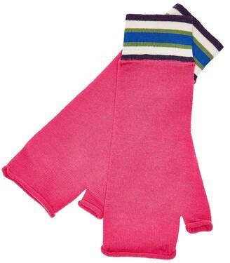 MG Rivers - Fuchsia Pink Extrafine Merino Fingerless Gloves