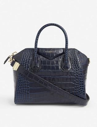 Givenchy Antigona mini crocodile-embossed leather tote bag